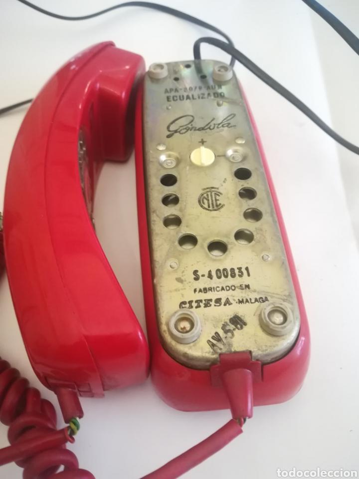 Coleccionismo: Teléfono Góndola Rojo, fabricado por Citesa. Años 70. - Foto 5 - 243818080