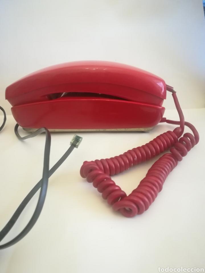 TELÉFONO GÓNDOLA ROJO, FABRICADO POR CITESA. AÑOS 70. (Coleccionismo - Varios)
