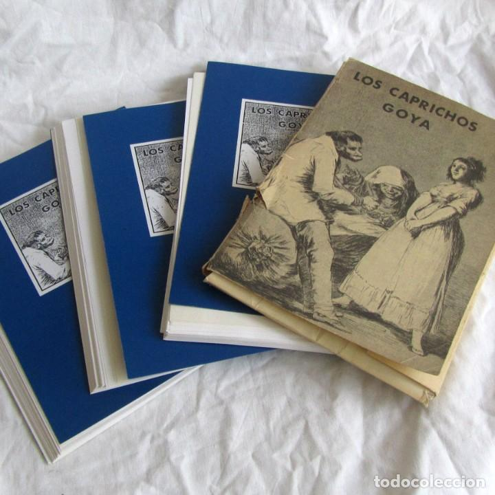 LÁMINAS LOS CAPRICHOS DE GOYA, CARPETA COMPLETA, 80 LÁMINAS + 3 COPIAS DE 80 LÁMINAS CADA UNA (Coleccionismo - Laminas, Programas y Otros Documentos)