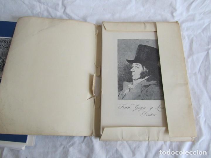 Coleccionismo: Láminas los caprichos de Goya, carpeta completa, 80 láminas + 3 copias de 80 láminas cada una - Foto 3 - 243850655
