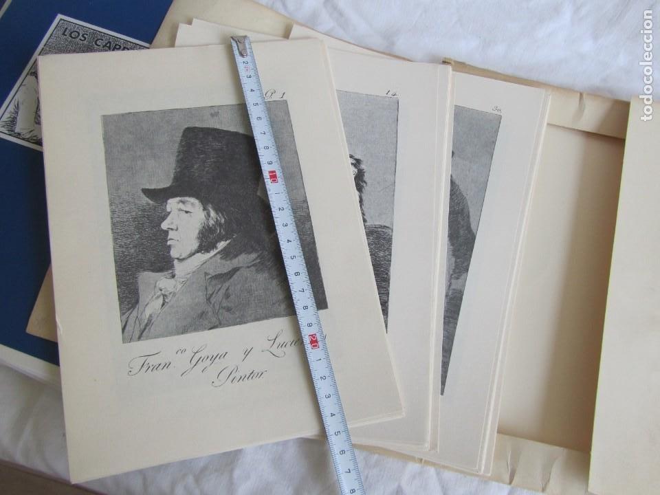 Coleccionismo: Láminas los caprichos de Goya, carpeta completa, 80 láminas + 3 copias de 80 láminas cada una - Foto 4 - 243850655