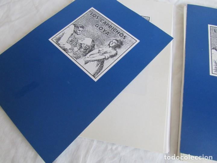 Coleccionismo: Láminas los caprichos de Goya, carpeta completa, 80 láminas + 3 copias de 80 láminas cada una - Foto 6 - 243850655