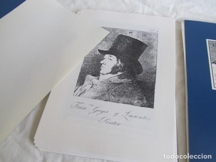 Coleccionismo: Láminas los caprichos de Goya, carpeta completa, 80 láminas + 3 copias de 80 láminas cada una - Foto 7 - 243850655