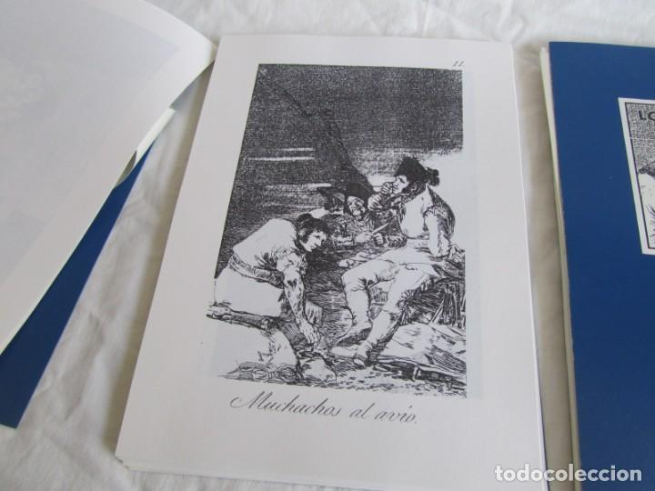 Coleccionismo: Láminas los caprichos de Goya, carpeta completa, 80 láminas + 3 copias de 80 láminas cada una - Foto 8 - 243850655
