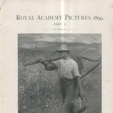 Coleccionismo: LAMINA 013:GOING TO WORK POR GEORGE CLAUSEN A.R.A.. Lote 243933370