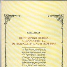 Coleccionismo: TOROS Y TOREROS CAPITULO 20 DEL VOLUMEN 5. Lote 243933545