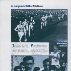 Coleccionismo: ESPANYOL LAMINA 35: SECCION DE ATLETISMO: ALBERTO CHARLOT, TOMAS BARRIS. Lote 243933725