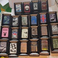 Coleccionismo: LOTE X 22 MECHEROS ZIPPO ORIGINALES.TOTALMENTE NUEVOS EN CAJA ORIGINAL. Lote 243964975