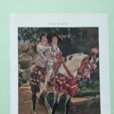 Coleccionismo: LMV - LÁMINA, JOAQUIN SOROLLA, MARIA Y MIGUEL A CABALLO, 16X24 CM. Lote 243966690