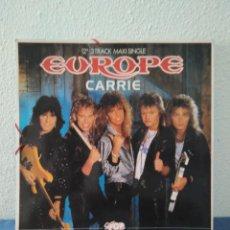 Coleccionismo: CARPETA CON EUROPE Y MADONNA OBSEQUIO SUPER POP IMITA UN DISCO DE VINILO. Lote 244022270