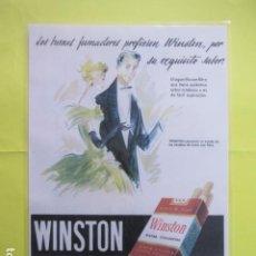 Coleccionismo: CARTEL REPRODUCCION PUBLICIDAD WINSTON TAMAÑO: 29 X 41 CM COLECCION TABACO ESTANCO. Lote 244526085