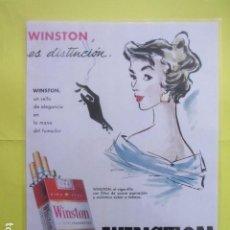 Coleccionismo: CARTEL REPRODUCCION PUBLICIDAD WINSTON TAMAÑO: 29 X 41 CM COLECCION TABACO ESTANCO. Lote 244526090
