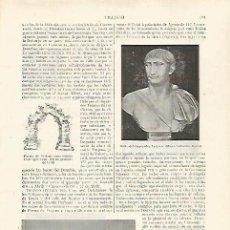 Coleccionismo: LAMINA ESPASA 28771: BUSTO DEL EMPERADOR TRAJANO. Lote 244920515