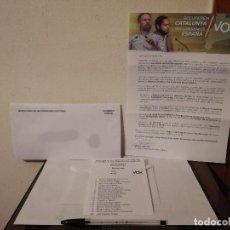 Coleccionismo: CARTA ELECTORAL - RECUPEREMOS CATALUÑA 14F - VOX - PARLAMENTO ESPAÑA - POLITICA. Lote 244954190
