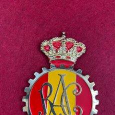 Collectionnisme: PLACA ANAGRAMA O ESCUDO RAC REAL AUTOMÓVIL CLUB DE ESPAÑA (RACE). Lote 245026085