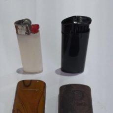 Coleccionismo: 2 MECHEROS BIC ANTIGUO CON FUNDA. VER FOTOS.. Lote 245070940