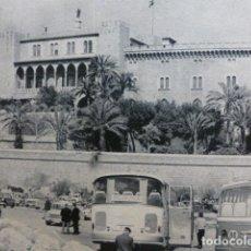 Coleccionismo: PALMA DE MALLORCA PALACIO DE LA ALMUDAINA ANTIGUO HUECOGRABADO. Lote 245074680