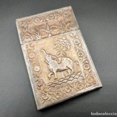 Coleccionismo: PITILLERA O TARJETERO ANTIGUO. PLATA LABRADA. INDIA. PRINCIPIOS S. XX. Lote 245421240