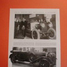 Coleccionismo: EN EL SALON DEL AUTOMOVIL EL REY VISITA EL STAND DE HISPANO SUIZA - 27/4/1923. Lote 245726010