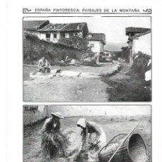 Coleccionismo: AÑO 1913 SANTANDER FOTOGRAFIA ANIMADA PAISAJES DE LA MONTAÑA ALCEDA TRABAJOS DEL CAMPO CARROS. Lote 246135710