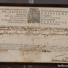 Coleccionismo: ANTIGUO TÍTULO EN LATÍN AÑO 1793. Lote 246158400