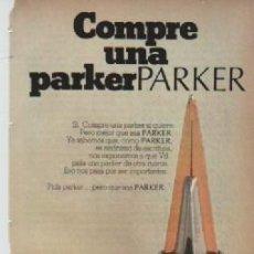 Coleccionismo: ANUNCIO PUBLICIDAD ESTILOGRAFICAS PARKER. Lote 246265340