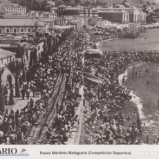 Coleccionismo: LAMINA DIARIO COSTA DEL SOL. MALAGA. PASEO MARITIMO MALAGUETA.31,5X21,5 LAMAL-171. Lote 246438435