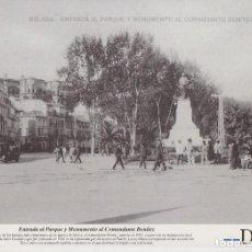 Coleccionismo: LAMINA DIARIO COSTA DEL SOL. MALAGA. ENTRADA AL PARQUE Y MONUMENTO. 31,5X21,5 LAMAL-173. Lote 246438810