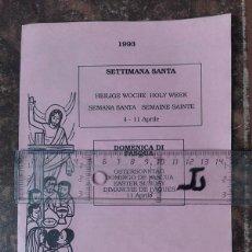 Coleccionismo: PROGRAMA DE SEMANA SANTA. FLORENCIA (ITALIA), 1993.. Lote 246495900