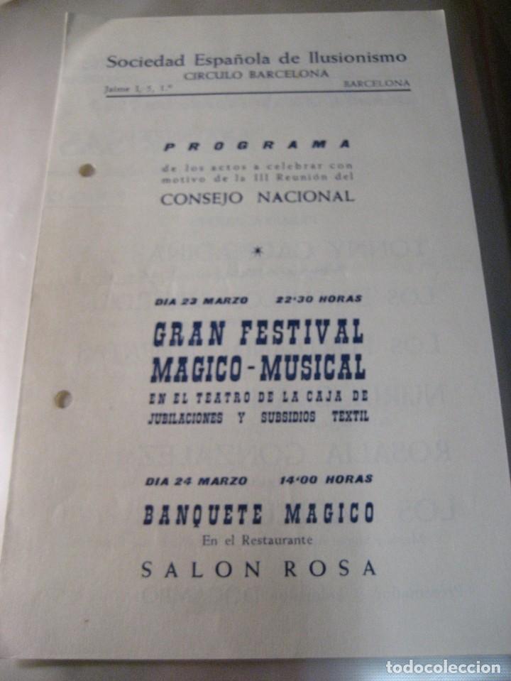 2 PROGRAMA SOCIEDAD ESPAÑOLA DE ILUSIONISMO . MAGIA . FESTIVAL MAGICO - 1963 -60 (Coleccionismo - Laminas, Programas y Otros Documentos)