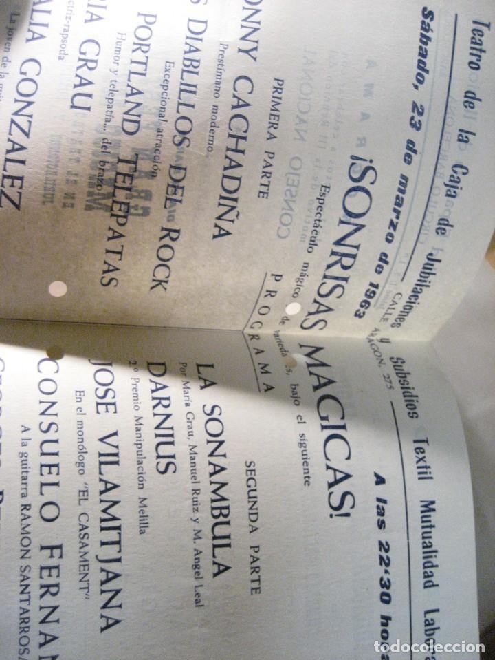 Coleccionismo: 2 programa sociedad española de ilusionismo . magia . festival magico - 1963 -60 - Foto 4 - 247106120