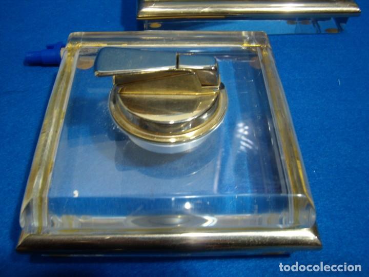Coleccionismo: Juego fumador metraquilato filo dorado, años 80, Nuevo sin usar. - Foto 2 - 247369425