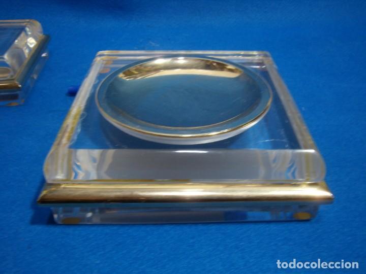 Coleccionismo: Juego fumador metraquilato filo dorado, años 80, Nuevo sin usar. - Foto 5 - 247369425
