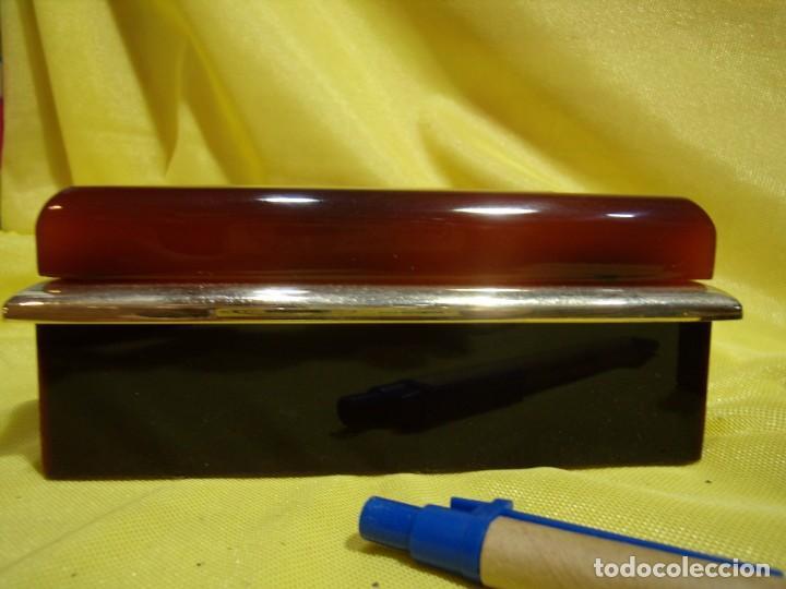 Coleccionismo: Juego fumador metraquilato marrón filo dorado, años 70, Nuevo sin usar. - Foto 10 - 247486505