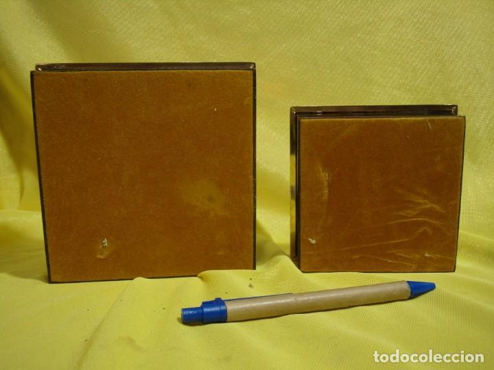 Coleccionismo: Juego fumador metraquilato marrón filo dorado, años 70, Nuevo sin usar. - Foto 13 - 247486505