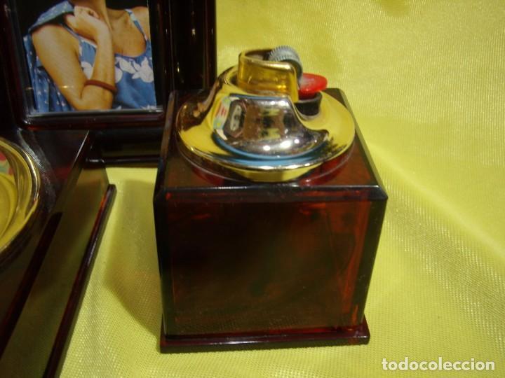 Coleccionismo: Juego fumador marrón con portafotos , años 90, Nuevo sin usar. - Foto 3 - 247487315