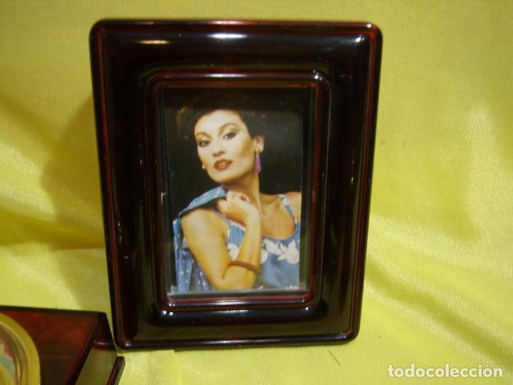Coleccionismo: Juego fumador marrón con portafotos , años 90, Nuevo sin usar. - Foto 4 - 247487315