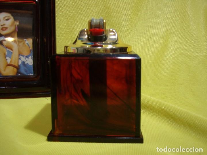 Coleccionismo: Juego fumador marrón con portafotos , años 90, Nuevo sin usar. - Foto 5 - 247487315