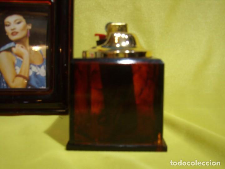 Coleccionismo: Juego fumador marrón con portafotos , años 90, Nuevo sin usar. - Foto 6 - 247487315