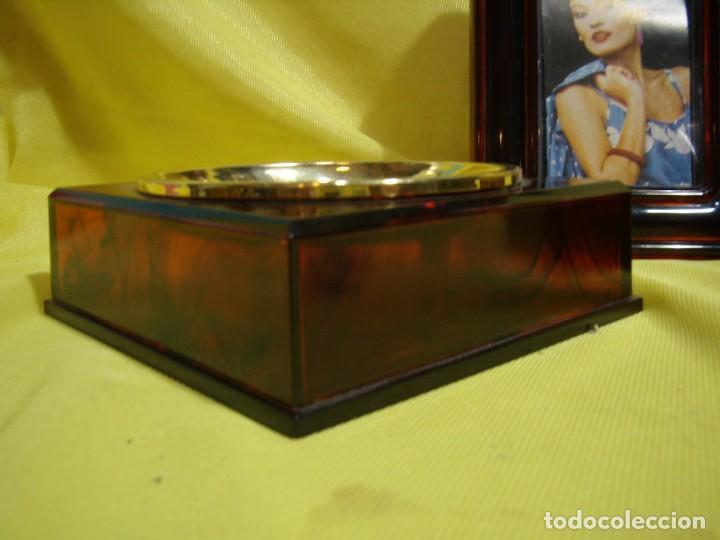Coleccionismo: Juego fumador marrón con portafotos , años 90, Nuevo sin usar. - Foto 8 - 247487315