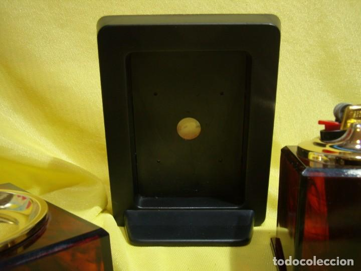 Coleccionismo: Juego fumador marrón con portafotos , años 90, Nuevo sin usar. - Foto 9 - 247487315