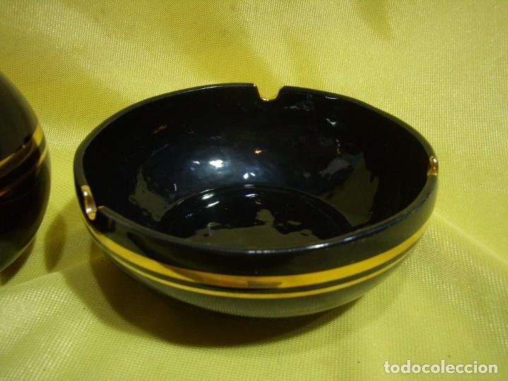 Coleccionismo: Juego fumador porcelana negro , años 80, Nuevo sin usar. - Foto 3 - 247488125