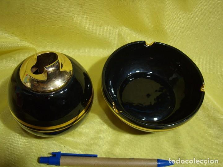 Coleccionismo: Juego fumador porcelana negro , años 80, Nuevo sin usar. - Foto 4 - 247488125