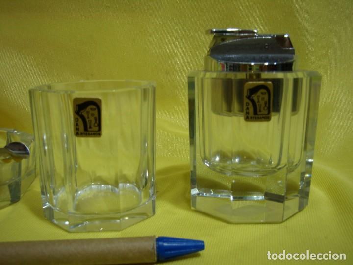 Coleccionismo: Juego fumador cristal , años 80, Nuevo sin usar. - Foto 2 - 247488930