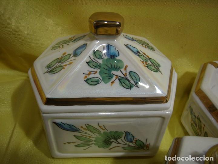 Coleccionismo: Juego fumador cerámica, pintado a mano, años 80, Nuevo sin usar. - Foto 3 - 247495355