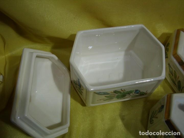 Coleccionismo: Juego fumador cerámica, pintado a mano, años 80, Nuevo sin usar. - Foto 4 - 247495355