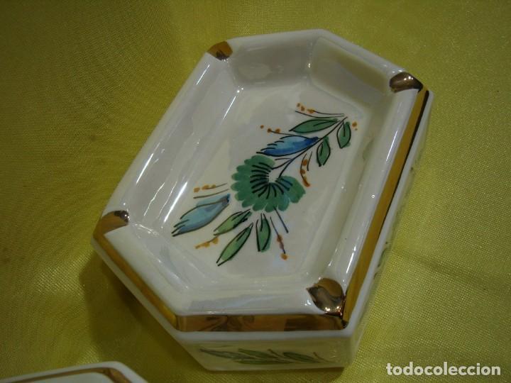 Coleccionismo: Juego fumador cerámica, pintado a mano, años 80, Nuevo sin usar. - Foto 5 - 247495355