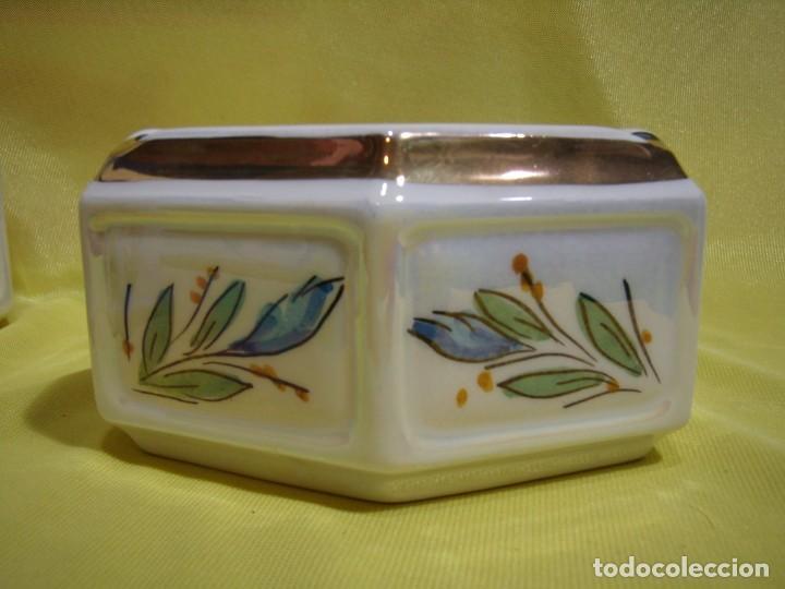 Coleccionismo: Juego fumador cerámica, pintado a mano, años 80, Nuevo sin usar. - Foto 7 - 247495355