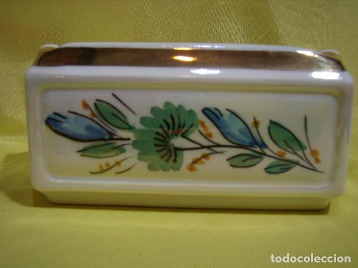 Coleccionismo: Juego fumador cerámica, pintado a mano, años 80, Nuevo sin usar. - Foto 8 - 247495355