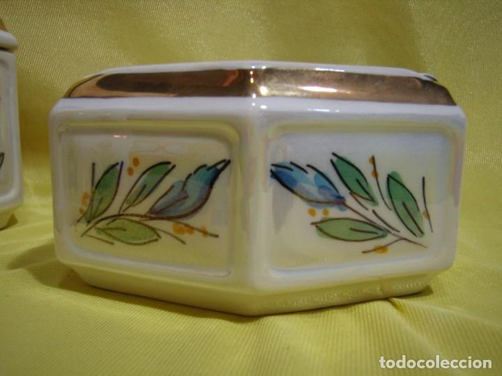 Coleccionismo: Juego fumador cerámica, pintado a mano, años 80, Nuevo sin usar. - Foto 9 - 247495355